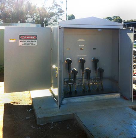 Un GMK NOJA Power instalado en NSW - Compartimento de conexión de cables de Alta Tensión