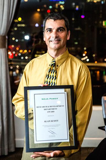 Alan Scott recibir el Premio Departamento de Investigación y Desarrollode NOJA Power