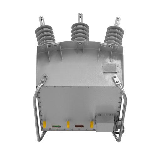 Reconectador Uni-Tripolar NOJA Power serie OSM - Tres anillos de apertura - bloqueo mecánico y tres indicadores independientes.