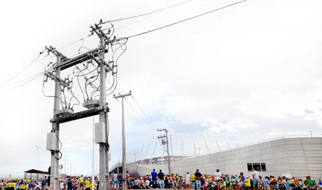 Reconectadores de Circuito Automáticos NOJA Power en el estadio Castelao, sede de los partidos Brasil vs México y Alemania vs Ghana en el campeonato Mundial de la FIFA.