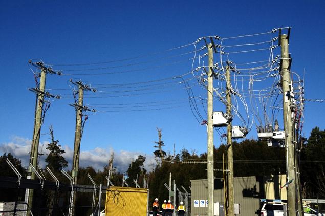 Figura 2 – Visión general del sitio, la conexión temporal de generadores diésel en Tasmania