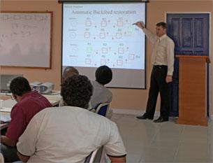 Sesión de capacitación en Trinidad y Tobago